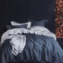 【Indian】雙人四件式100%純天絲兩用被床包組-一彎心跡