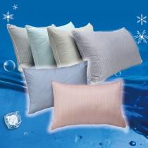 【Indian】簡約條紋涼爽冰晶枕 (2顆)--顏色隨機出貨