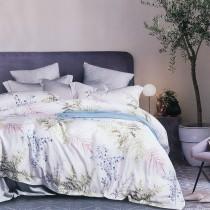 【FITNESS】100%純天絲頂級60S加大七件式床罩組-銀杏輕拾