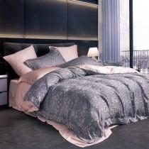 【FITNESS】100%純天絲頂級60S加大七件式床罩組-芳茵