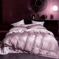 【FITNESS】100%純天絲頂級60S加大四件式兩用被床包組-碎納斯