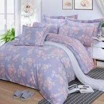 【FITNESS】精梳棉加大七件式床罩組-佛洛拉(紫)