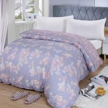 【FITNESS】精梳棉雙人鋪棉兩用被套-佛洛拉(紫)