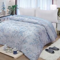 【FITNESS】精梳棉雙人鋪棉兩用被套-花妍戀曲(藍)