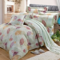 【FITNESS】精梳棉加大七件式床罩組-日光(綠)