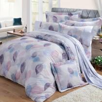 【FITNESS】精梳棉加大七件式床罩組-日光(紫)