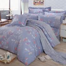 【FITNESS】精梳棉雙人特大七件式床罩組-馬格森特(灰藍)