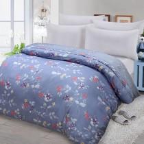 【FITNESS】精梳棉雙人鋪棉兩用被套-馬格森特(灰藍)
