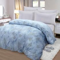 【FITNESS】精梳棉雙人鋪棉兩用被套-里葉亭(藍)