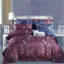 【Indian】新科技天絲吸濕排汗雙人兩用被床包四件組-夢之蘭紅(台灣製)