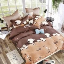 【Indian】新科技天絲吸濕排汗雙人兩用被床包四件組-溫馨草原(台灣製)