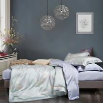 【FITNESS】100%純天絲頂級60S雙人特大七件式床罩組-蔓然