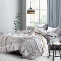 【FITNESS】100%純天絲頂級60S雙人加大七件式床罩組-靜薇