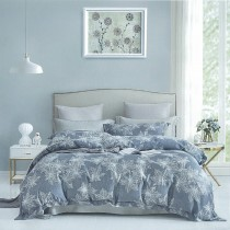 【FITNESS】100%純天絲頂級60S雙人加大七件式床罩組-夢境森林
