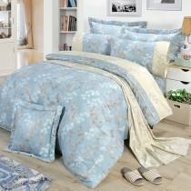 【FITNESS】精梳棉雙人特大七件式床罩組-賈柯梅蒂(藍)