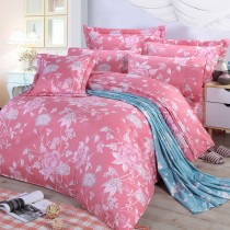 【FITNESS】精梳棉雙人特大七件式床罩組-粉妝輕抹(粉)