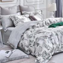 【Indian】100%純天絲雙人特大七件式床罩組-韻葉