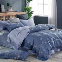 【Indian】100%純天絲雙人加大兩用被床包四件組-暗影沉香