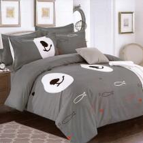 【Indian】雙人四件式印花兩用被床包組-叢林法則