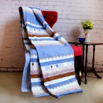 【Indian】純棉蠶絲涼被-都市風