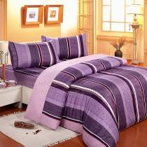 【Victoria】純棉雙人床包組-雅仕紫