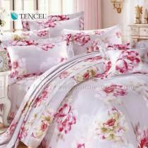 【Victoria】天絲雙人全套床罩組-花韻