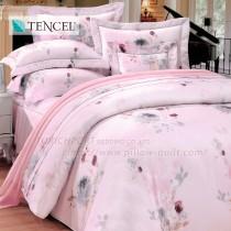 【Victoria】天絲雙人全套床罩組-水墨花香
