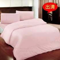 【Victoria】純棉素雅雙人床包組-粉色