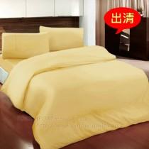 【Victoria】純棉素雅加大床包組-金色