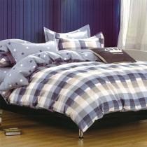 【Indian】純棉雙人床包兩用被組--夏日陽光(藍)