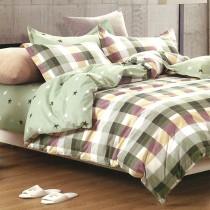 【Indian】純棉雙人床包兩用被組--夏日陽光(綠)