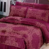 【Victoria】緹花雙人七件式床罩組-迷情