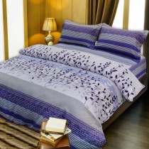 【Indian】印花雙人床包兩用被組--葉語
