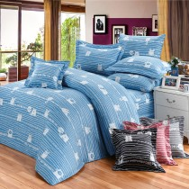【FITNESS】精梳純棉加大七件式床罩組- 萌玩樂園(藍)