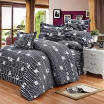 【FITNESS】精梳純棉加大七件式床罩組- 萌玩樂園(黑)