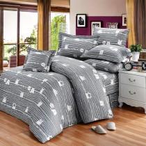 【FITNESS】精梳純棉雙人七件式床罩組- 萌玩樂園(灰)