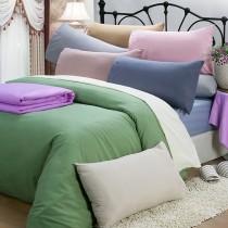 【皮斯佐丹】玩色彩條紋雙人床包被套枕套四件組(多款顏色任選)