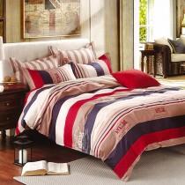 【Indian】 卡羅  雙人四件式純綿兩用被床包組