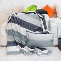 【Indian】100%純天絲涼被枕套三件組-藍色誘惑